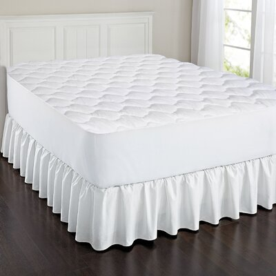 Triple Layer Cotton Touch Quilted Mattress Pad Size: Full