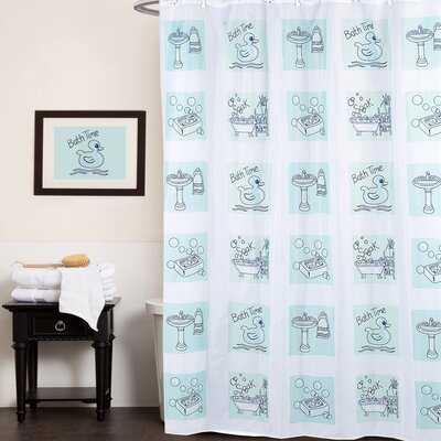 Fun Bath Time Shower Curtain