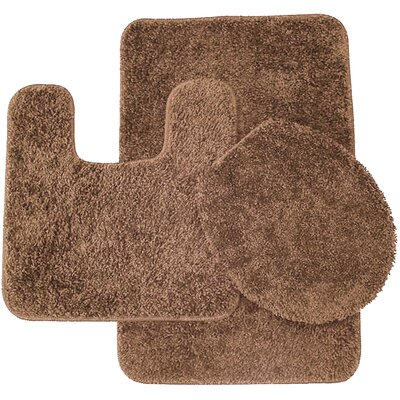 Calandre 3 Piece Shag Bathroom Rug Set Color: Light Brown