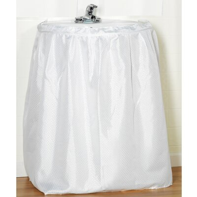 Embossed Fabric Sink Drape Color: White
