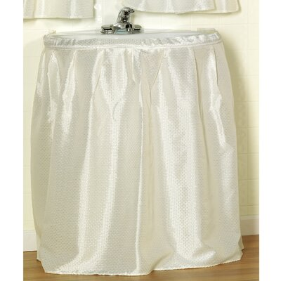 Embossed Fabric Sink Drape Color: Ivory