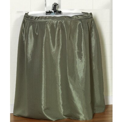 Embossed Fabric Sink Drape Color: Sage