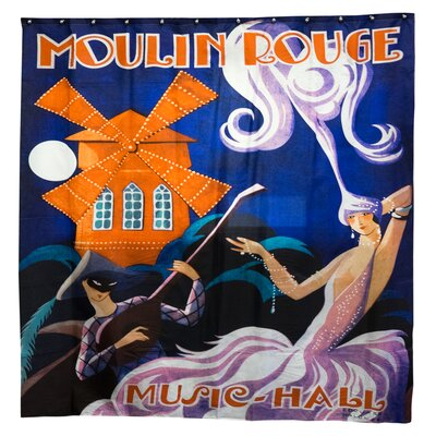 Music Hall Polyester Shower Curtain
