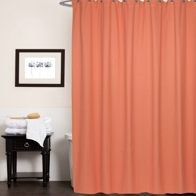 Chevron Cotton Shower Curtain Color: Burnt Coral