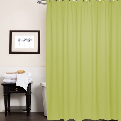 Chevron Cotton Shower Curtain Color: Citron