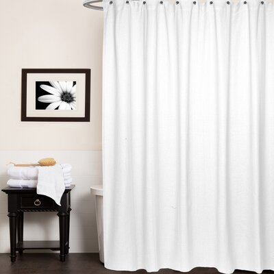 Chevron Cotton Shower Curtain Color: White