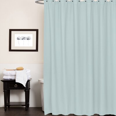 Waffle Weave Cotton Shower Curtain Color: Spa Blue