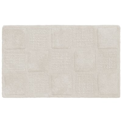 Waffle Weave Cotton Bath Rug Color: White