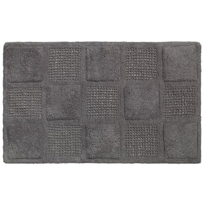 Waffle Weave Cotton Bath Rug Color: Pewter