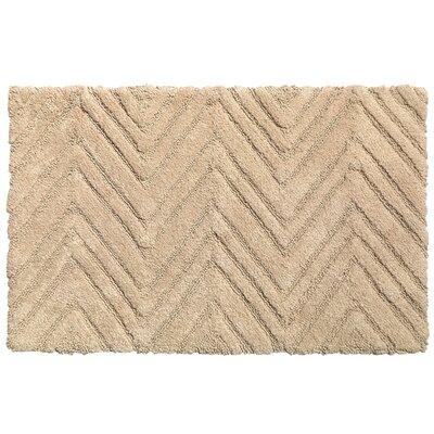 Chevron Cotton Bath Rug Color: Dark Linen
