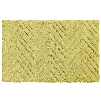 Chevron Cotton Bath Rug Color: Citron