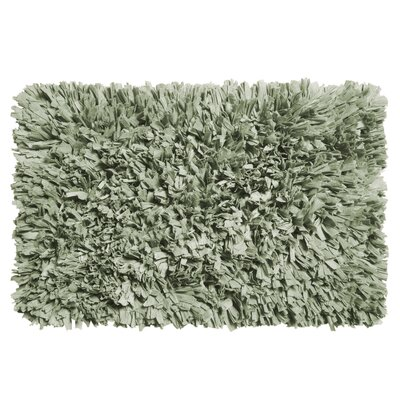 Cotton Shag Bath Rug Color: Spa Blue