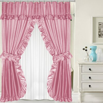 Double Swag Shower Curtain Set Color: Rose