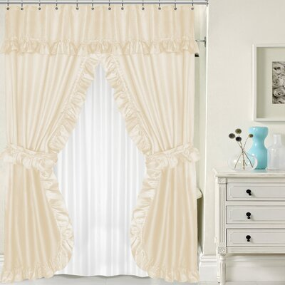 Double Swag Shower Curtain Set Color: Ivory
