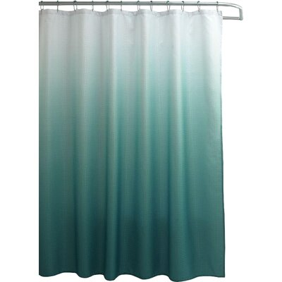 Wicklund 13 Piece Ombre Waffle Weave Shower Curtain Set Color: Teal