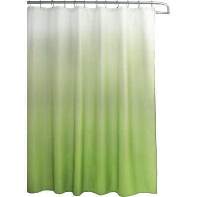 Wicklund 13 Piece Ombre Waffle Weave Shower Curtain Set Color: Lime