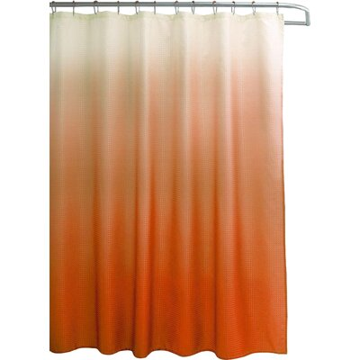 Wicklund 13 Piece Ombre Waffle Weave Shower Curtain Set Color: Orange