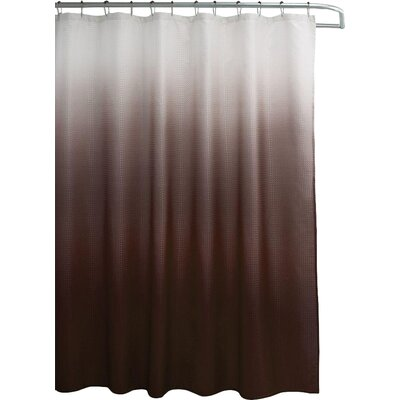 Wicklund 13 Piece Ombre Waffle Weave Shower Curtain Set Color: Chocolate