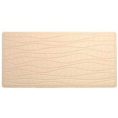 High Quality Non-Slip Rubber Bath Mat Color: Bone