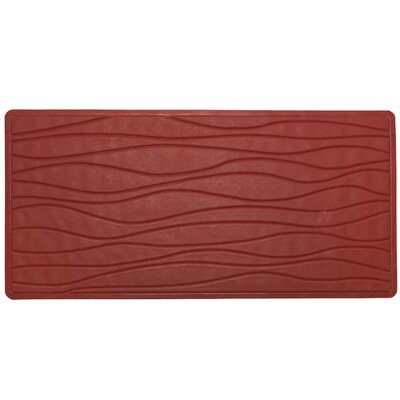 High Quality Non-Slip Rubber Bath Mat Color: Burgundy