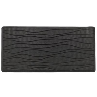 High Quality Non-Slip Rubber Bath Mat Color: Black