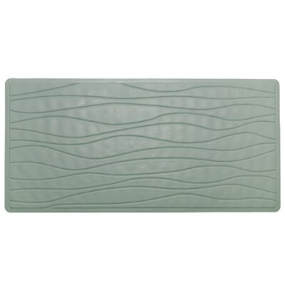 High Quality Non-Slip Rubber Bath Mat Color: Sage