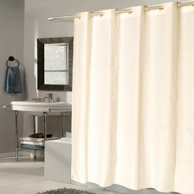 Check Fabric Shower Curtain