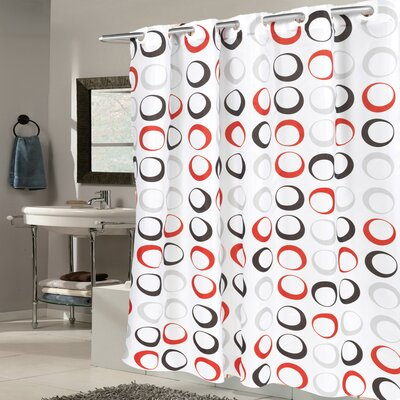 Circle Fabric Shower Curtain