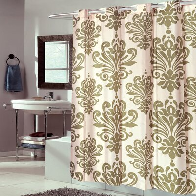 Fleur De Lis EVA Shower Curtain Color: Sage/Ivory