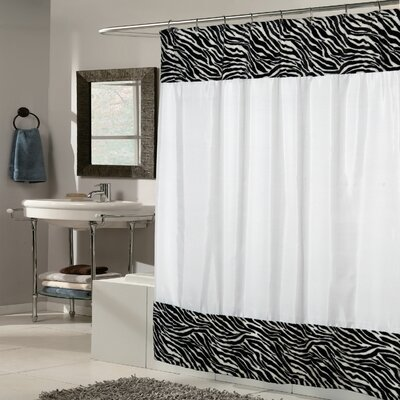 Zebra Fabric Shower Curtain