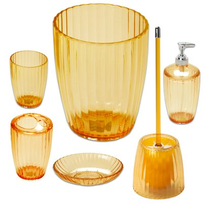 6 Piece Bath Accessory Set Color: Orange BAAOR-SET-72-ORG