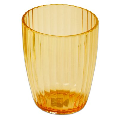 Ribbed Acrylic Waste Basket Color: Orange BAAOR-WB-72-ORG