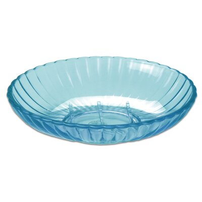 Ribbed Acrylic Soap Dish Color: Cerulean Blue BAARC-SD-80-CER