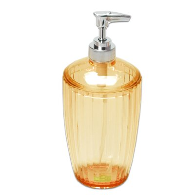 Ribbed Acrylic Lotion Pump Color: Orange BAAOR-LO-72-ORG