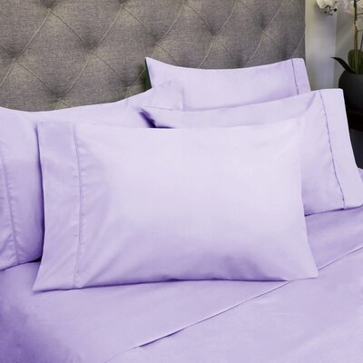 1800 Thread Count 6 Piece Sheet Set Size: Twin, Color: Lavender