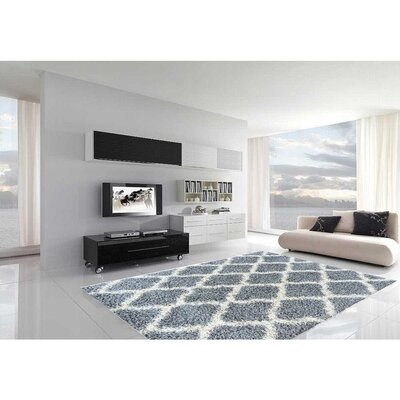 Cozy Gray Indoor/Outdoor Area Rug Rug Size: 67 x 93