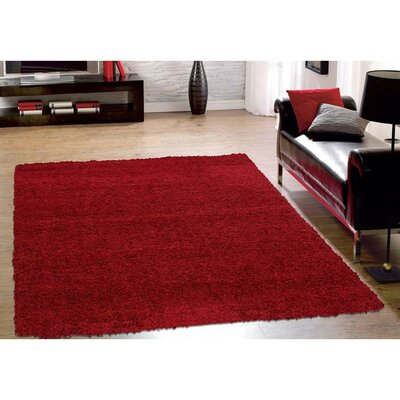 Cozy Red Indoor/Outdoor Area Rug Rug Size: 33 x 47