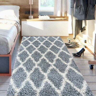 Cozy Gray Indoor/Outdoor Area Rug Rug Size: Runner 2 x 5