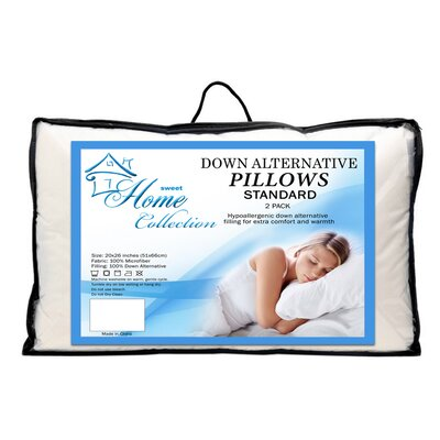 Premier Comfort Microfiber Down Alternative Pillow Size: Standard