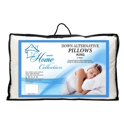 Premier Comfort Microfiber Down Alternative Pillow Size: King