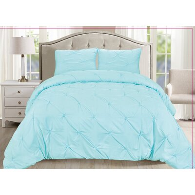 Luxury 3 Piece Duvet Cover Set Size: King, Color: Aqua