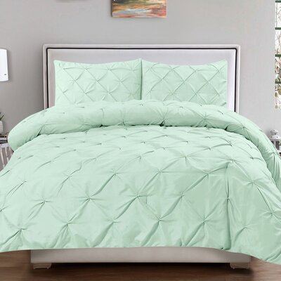Luxury 3 Piece Duvet Cover Set Size: King, Color: Mint