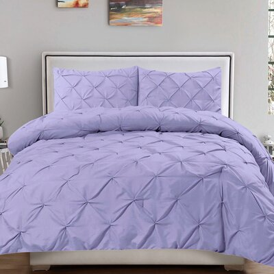Luxury 3 Piece Duvet Cover Set Size: Queen, Color: Lavender