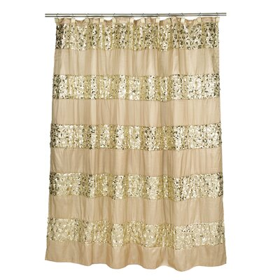 Sinatra Bath Shower Curtain Color: Champagne