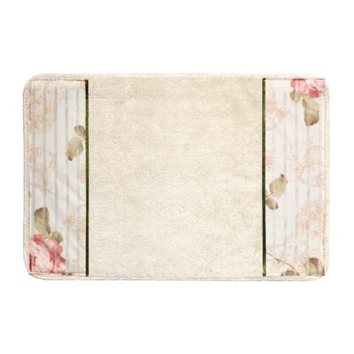 Rose Print Bathroom Rug