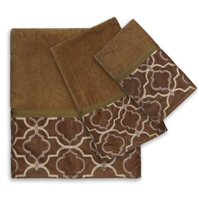 Medallion Bath Towel Set (Set of 6)