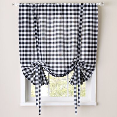 Buffalo Check Decorative Tie-Up Shade (Set of 6) Color: Black/White