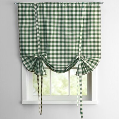 Buffalo Check Decorative Tie-Up Shade (Set of 6) Color: Sage