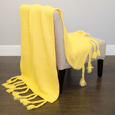 Luxurious Throw Color: Yellow