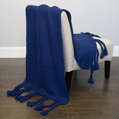 Luxurious Throw Color: Navy